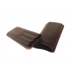 Zino Szivartok - 3 szivar részére, fekete, valódi bőr, 15 cm