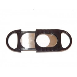 Kétujjas szivarvágó  - Angelo, fekete műanyag
